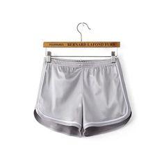 Fun Orange New Women Hot Shorts Summer Silk Slim Beach Casual Egde Shorts Solid Color Loose Mid Elastic Waist Sexy Shorts Hot Shorts, Summer Shorts, Casual Shorts, Casual Wear, Short Satin, Knee Length Denim Shorts, Satin Shorts, Cotton Shorts, Brown Shorts