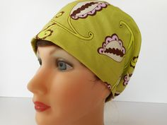 Euro Style Pixie Surgical Scrub Hat by bluebird053 on Etsy