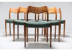 No. 71 Teak Esszimmerstühle von Niels Møller für J.L. Møllers, 1960er, 6er Set  - Esszimmerstühle & Sets - Sitzmöbel - Möbel - Produkte