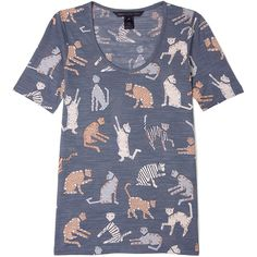 Marc by Marc Jacobs Nekos Cat Print T-shirt ($131) ❤ liked on Polyvore