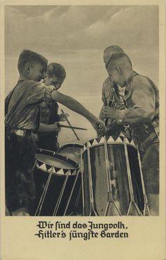 Hitler Jugend drummers postcard.