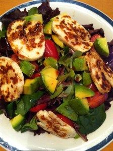 Haloumi, avocado salad
