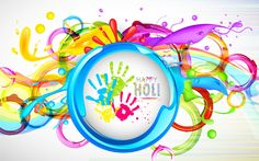 happy holi images Computer Wallpaper