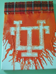 University of Tennessee Crayon Art!! Planing on making this NACSC!!