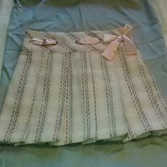 Cute Skirt Cream and pink skirt with blue , green ,red , and orange accents Mary Kate and Ashley Skirts Mini