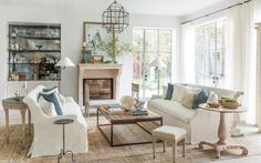 Get the Look! Modern Farmhouse Living Room {7 Design Lessons}