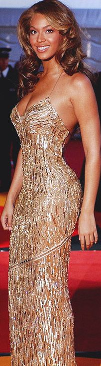 red carpet fashion gold dress - Beyonce