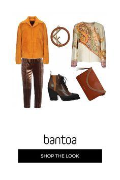 Arancione, beige e varie tonalità di marrone per un completo caldo e pratico nella sua eleganza.