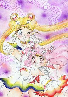 Sailor Moon e Sailor Chibiusa by ladymadge.deviantart.com on @deviantART