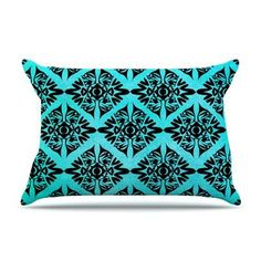 KESS InHouse Eye Symmetry Pattern by Pom Graphic Design Featherweight Pillow Sham Size: Queen, Fabric: Woven Polyester