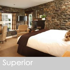 Large Deluxe & Deluxe Rooms The five star Sun Inn in Kirkby Lonsdale has one large deluxe room and four deluxe rooms; the rooms have a king size
