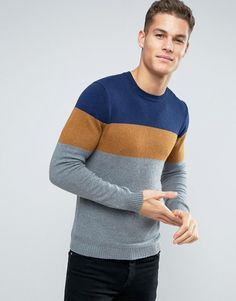 Get this Esprit's knit pullover now! Click for more details. Worldwide shipping. Esprit Knitted Jumper with Colour Block Stripe - Brown: Jumper by Esprit, Wool-mix knit, Crew neck, Colour-block design, Ribbed trims, Regular fit - true to size, Machine wash, 60% Cotton, 30% Polyamide, 10% Wool, Our model wears a size Medium and is 193cm/6'4 tall. Esprit was founded by Susie and Doug Tompkins from the back of their station wagon in countercultural '60s San Francisco. From these bohemian…