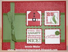 SUO-FMS59 Christmas squares by CraftyJennie - Cards and Paper Crafts at Splitcoaststampers