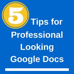 "The Gooru recently posted ""4 Tips for Making Professional Looking Google Documents."" Here are a few more tips for using Google Docs for professional looking documents. 1) Use Invisible Tables Using..."