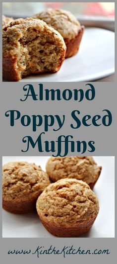 Vary it up from the traditional lemon poppy seed flavor and try these whole wheat muffins with almond butter and poppy seeds! Almond Paste, Almond Butter, Breakfast Ideas, Breakfast Recipes, Yummy Treats, Sweet Treats, Whole Wheat Muffins, Sweets Recipes, Desserts