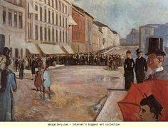 Edvard Munch. The Military Band on Karl Johan  Street. Olgas Gallery.