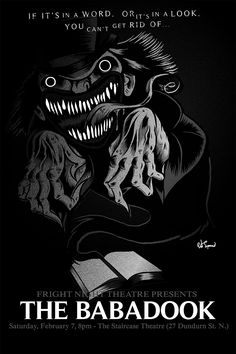 heres a look at my poster for next months screening of the babadook in Hamilton. Come on out and maybe you can get your hands on a poster. https://www.facebook.com/events/1425349871088652/