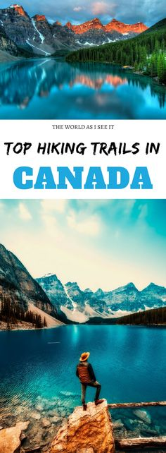 Discover the top hiking trails in Canada here! Travel to Canada to experience nature at its finest. Get outdoors and hit these trails for epic views out-of-this-world landscapes and to enjoy some of the world's best hiking trails! Hiking Gear, Hiking Trails, Hiking Logo, Backpacking Tips, Get Outdoors, The Great Outdoors, Ottawa, Places To Travel, Places To Visit