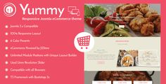Yummy - Responsive Joomla Restaurant Template . Yummy is the latest mouthwatering Joomla responsive restaurant template that just rolled out. Robust, lightweight, and responsive, Yummy adds volumes of style to your online restaurant. Its clean, contemporary design and attractive layout is ideal to display your mouthwatering menu. It also comes