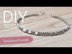 #Sieradenmaken met #Kralenwinkel #Online - #Satijnkoord #bangle #armband #maken - #YouTube