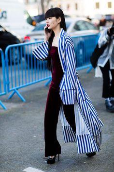 Stripes In Street Style #stripes #streetstyle