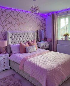 Cute Bedroom Decor, Bedroom Decor For Teen Girls, Cute Bedroom Ideas, Room Design Bedroom, Girl Bedroom Designs, Stylish Bedroom, Teen Room Decor, Room Ideas Bedroom, Bedroom Themes