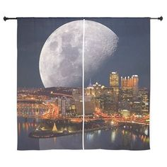 Spacey Pittsburgh Curtains on CafePress.com