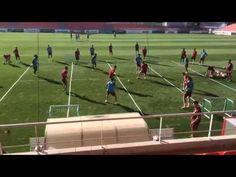 Ejercicio Simeone impedir linea de pase - YouTube
