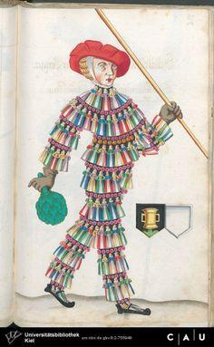Nürnberger Schembart-Buch Erscheinungsjahr: 16XX Cod. ms. KB 395 Folio 231