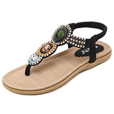 8a0e797932335 2016 Summer New Fashion Bohemian Beaded Gemstone Leisure Wild Fashion Women  Flat Thong Sandals Free Shipping Size 35-40 (8.5
