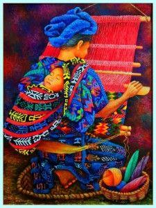 Feliz dia de las Madres Guatemaltecas y a todas las mamás del mundo   SomosGuatemala South American Art, Native American Art, Guatemalan Art, Mexican Paintings, Navajo Art, Latino Art, Spanish Art, Indigenous Art, Mexican Folk Art