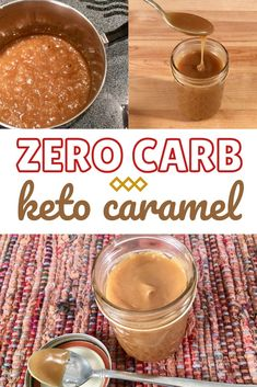 Keto caramel is quick and easy to make. It only takes 3 ingredients to make this low carb caramel recipe. It's ZERO CARB and perfect for keto dessert. Low Carb Deserts, Low Carb Sweets, Keto Cookies, Keto Vegan, Paleo, Low Carb Backen, Comida Keto, Keto Sauces, Keto Candy