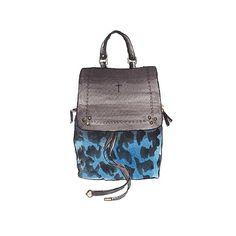 Good Objects - Jerome Dreyfuss leopard print canvas backpack @jeromedreyfuss #jeromedreyfuss #backpack #watercolour #illustration #goodobjects