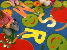 For this center, from Tiffany Taylor's class, students match pictures to large letters to practice beginning sounds.         Go to the following links for possible clip art for this activity    Alphabet Stickers from Cherry Carl's website    (Go down about half way on the page and click     on Alphabet Stickers)         Black & White Alphabet Clip Art