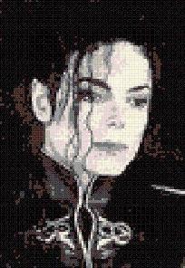 Michael Jackson Cross Stitch Pattern - pdf - 9 colors