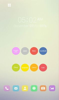 [Homepack Buzz] Check out this awesome homescreen! Gina Young Jin Lee | My Homepack Simple & Colorful homepack :)