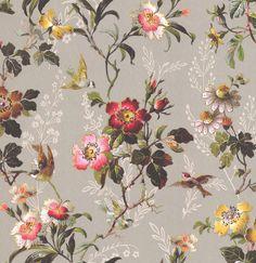 Oasis Leighton Grey Wallpaper Hauptbild Source by Paintable Wallpaper, Grey Wallpaper, Room Wallpaper, Wallpaper Ideas, Victorian Wallpaper, Wallpaper Direct, Flower Backgrounds, Vintage Flowers, Flower Art