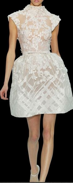 Elie Saab white lace amazing