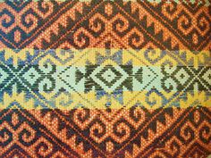 This is a textile created by the Mapuche, an indigenous group in Chile.