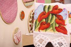 Arte Brasil | Antúrios em Tecido - Fátima Hespanholeto