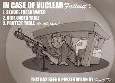 Fallout poster by PitchBlackYetis on DeviantArt Fallout Posters, Fallout Props, Fallout Art, Fallout New Vegas, Fallout Meme, Video Game Memes, Video Games Funny, Funny Games, Fallout Guide