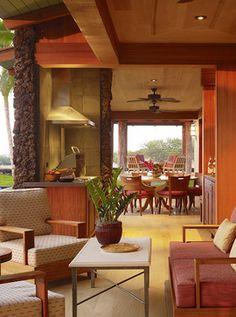Hawaii Residence Tropical Living Room