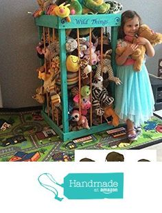 3 foot or 4 foot Stuffed Animal Zoo, Stuffed Animal Cage, Stuffed Animal Storage, Solid wood, Personalized, using non toxic child safe stain and seal. from Traveling Elephants https://www.amazon.com/dp/B01E33S9ZC/ref=hnd_sw_r_pi_dp_n43cyb0GED8WK #handmadeatamazon