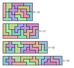 pentominoes printable worksheets   Pentomino - Wikipedia, the free encyclopedia