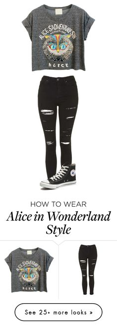 """Untitled #571"" by cdswagger on Polyvore featuring Topshop and Converse"