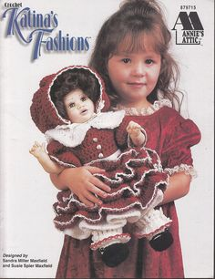 Katina's Fashions- Crochet Clothes for 16 in Dolls by Annies Attic Pattern Book #AnniesAttic