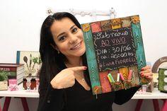 DIY | Painel em madeira com efeito lousa | Livia Fiorelli | Life Artesan...
