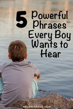 Kids Discover 5 Powerful Phrases Every Boy Wants to Hear - Melanie Redd Although they may not show it boys need to hear positive words as much (or maybe more than) girls. Here are 5 Powerful Phrases Every Boy Wants to Hear. Parenting Advice, Kids And Parenting, Peaceful Parenting, Gentle Parenting, Parenting Issues, Funny Parenting, Parenting Classes, Parenting Styles, Grace Based Parenting