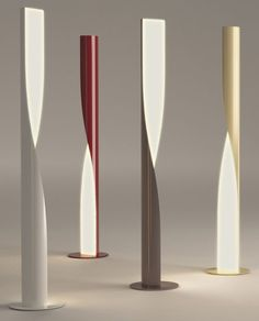 A Fabulous Minimal Grey And White Italian Designer Floor Lamp To Lighten Up The Darkest Corner
