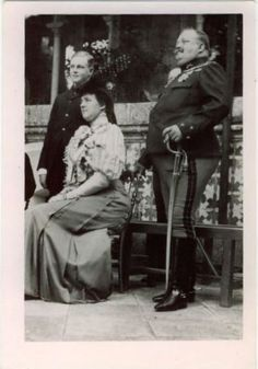 Luis Filipe, Prince Royal, with his parents, Queen Amelia and King Carlos I of Portugal.